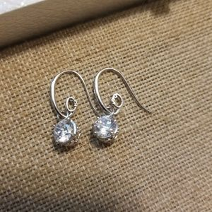 Origami Owl Hoop Drop Crystal Earrings